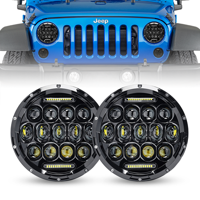 "7"" 75W Cree LED Headlight DRL Hi/Lo Beam For 1997-2019 Jeep Wrangler JK/TJ/LJ/JL - LED Factory Mart"