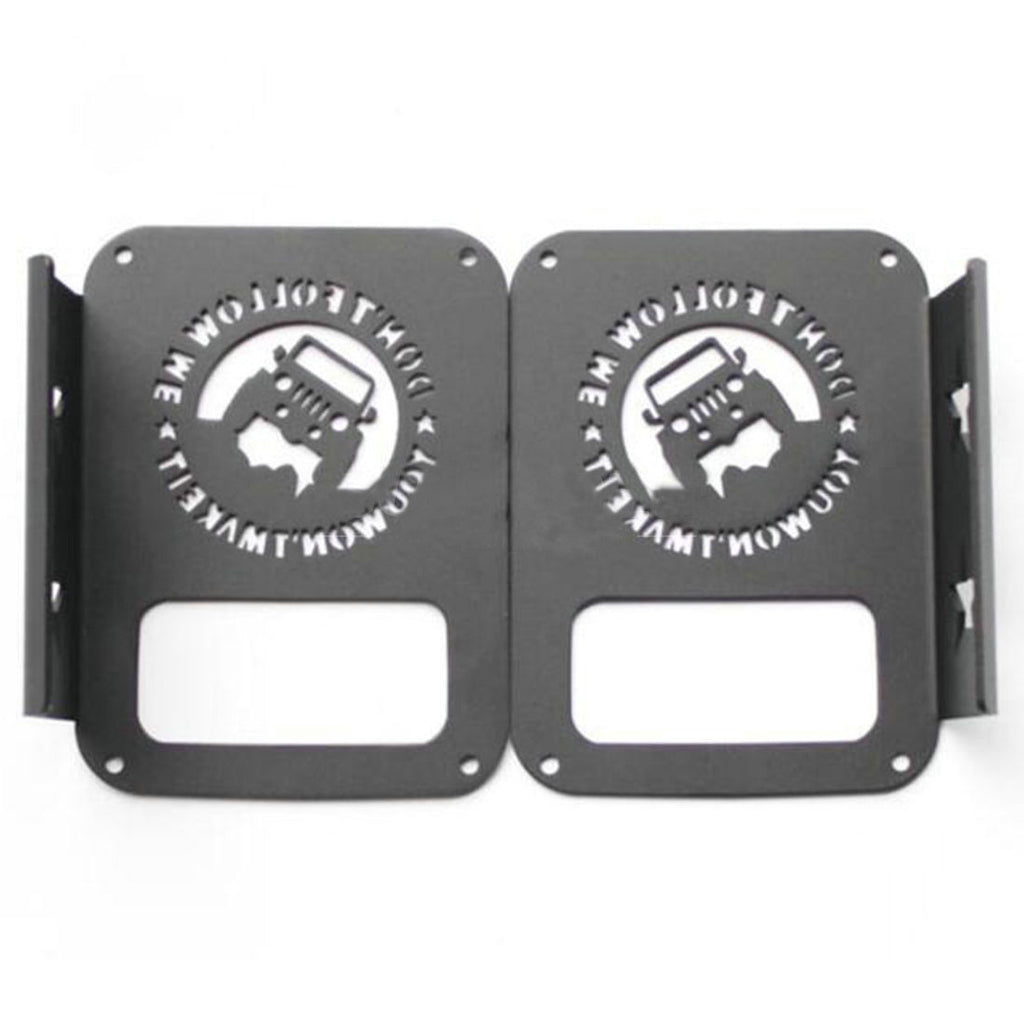 2x Don't Follow Me Jeep Tail Light Cover Guard