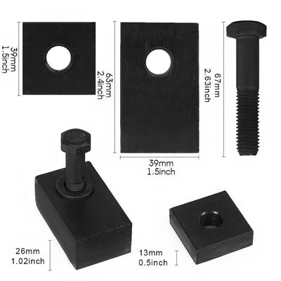 Aluminum Rear Seat Recline Kit with Bolts and Washers for Jeep Wrangler JK (4-Door)