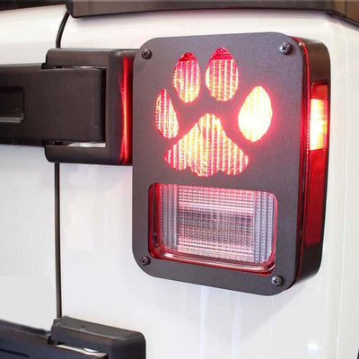 jeep Wrangler JK Claw Black Rear Taillight Cover