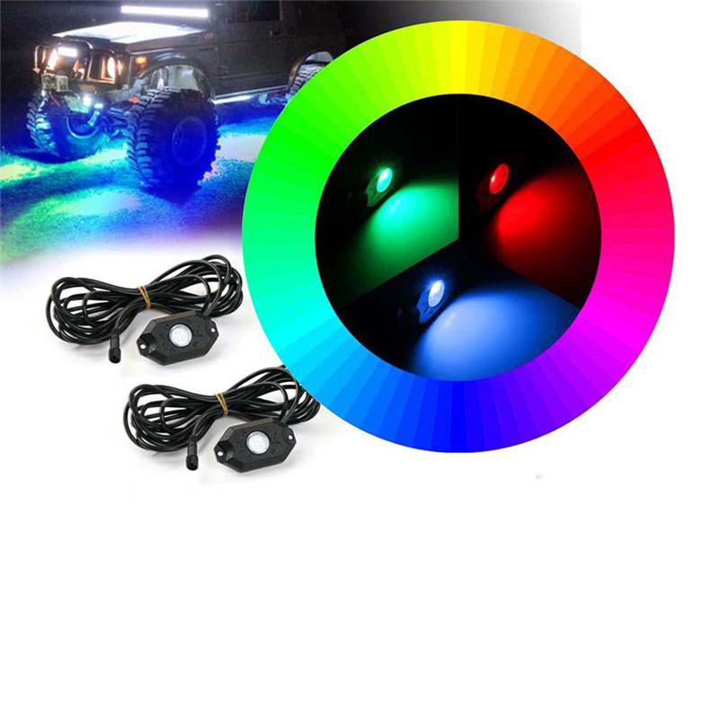 8PC Bluetooth Multi-Color RGB LED Rock Lights