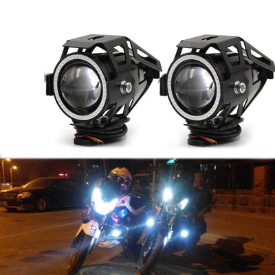 Motorcycle Headlight led U7 Motorbike Driving fog daytime running light drl Light Lamp switch Moto Accessories - LED Factory Mart