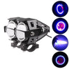Cree U7 LED Motorcycle Headlight Fog Spot Light w/ Angle Eyes Devil Eyes 2PCS