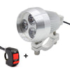 Aluminum LED Motorcycle Headlight Motorbike Driving Spot Head Light Lamp with Switch