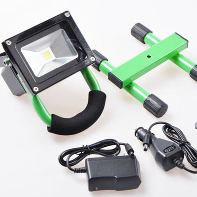 10W Wireless Rechargeable LED Outdoor Flood Light - Yellow - LED Factory Mart