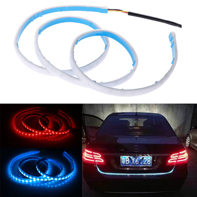 Blue Decor LED Strip Red Brake Light For Car Trunk Tailgate Cargo Illumination