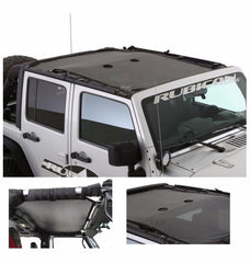 Cloak Extended Mesh Shade Top For Jeep Wrangler - LED Factory Mart - 7