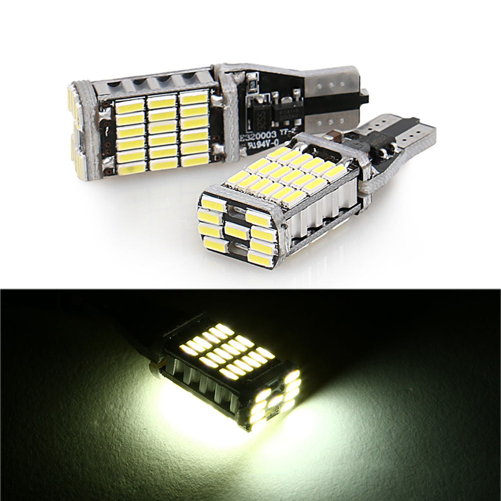 T10 194 W5W 45SMD 4014 Error Free LED Reverse Back Light Bulbs