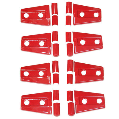 Black/Red ABS Side Door Hood Hinge Trim Cover Kit For Jeep Wrangler 4 Door 07-15 - LED Factory Mart - 7