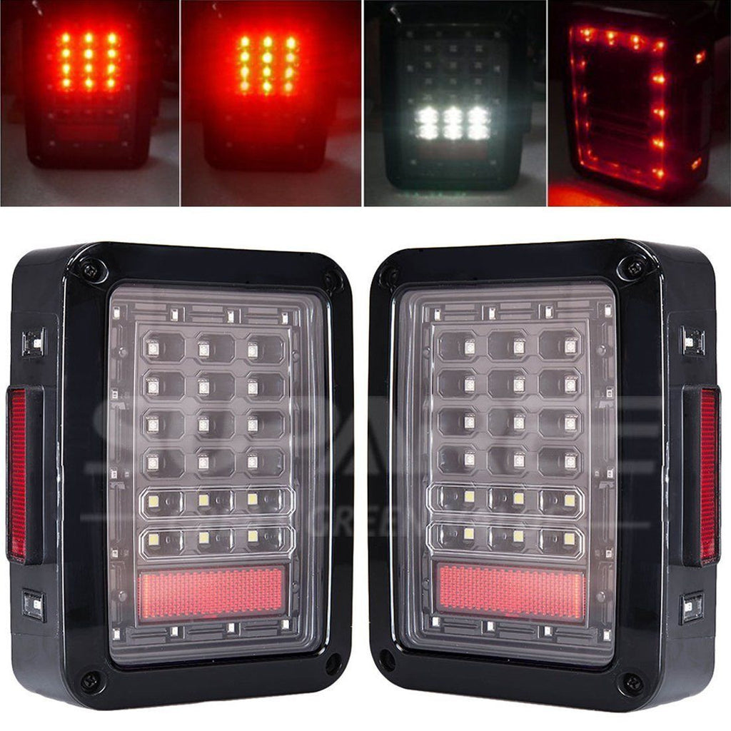 LED Rear Taillight+3rd LED High Brake Lights For Jeep Wrangler 07-16 - LED Factory Mart