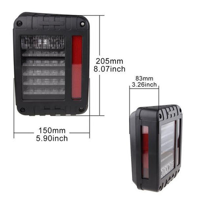 75W 7'' LED Headlight & Rear Brake Reverse Tail Light - LED Factory Mart