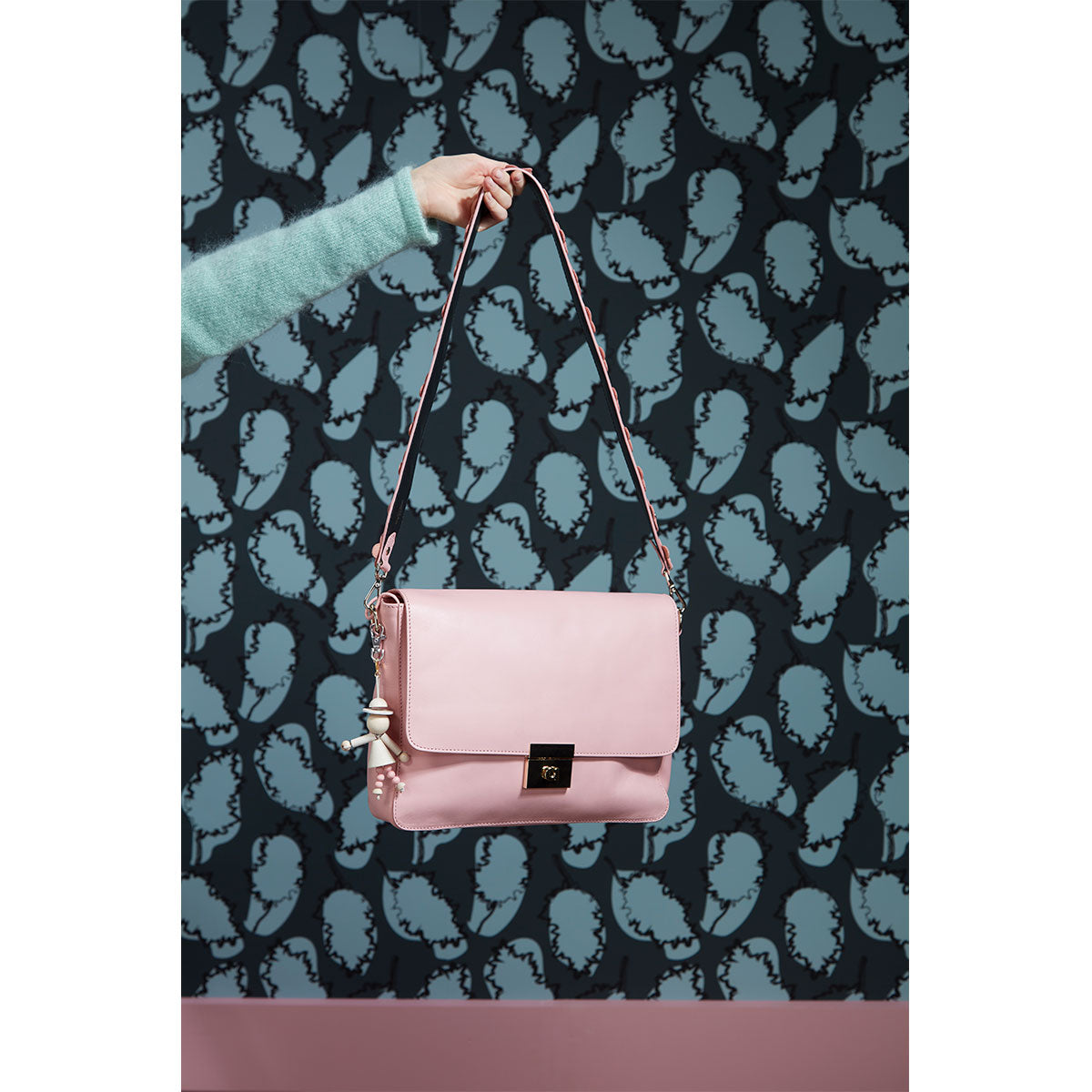 Milja flower shoulder strap pink/black