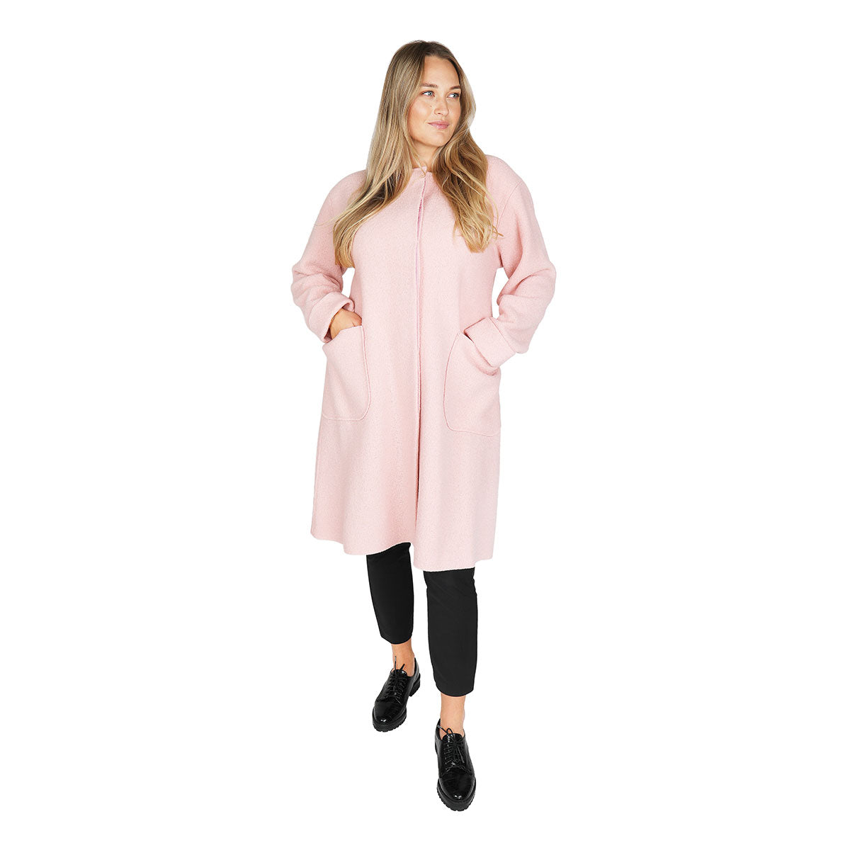 Inkeri boiled wool coat rose