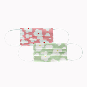 Lemmikki cloth face mask, 2 pcs, green-pink