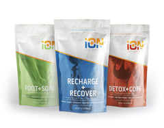iON Performance Magnesium and Epsom Salt Muscle Soaks for Recovery, Foot Care and Detox