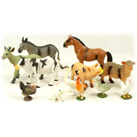 12pce Farm Animal Set - Plastic - educationaltoys.ie