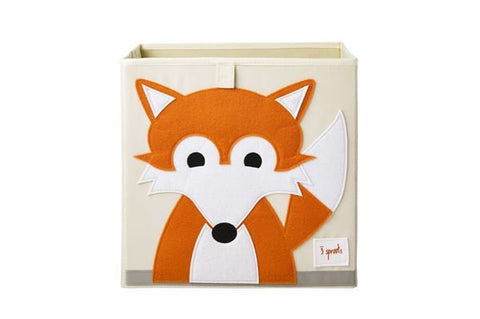 3 Sprouts Storage Box Fox Red - educationaltoys.ie