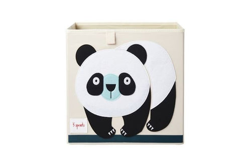 3 Sprouts Storage Box Panda - educationaltoys.ie