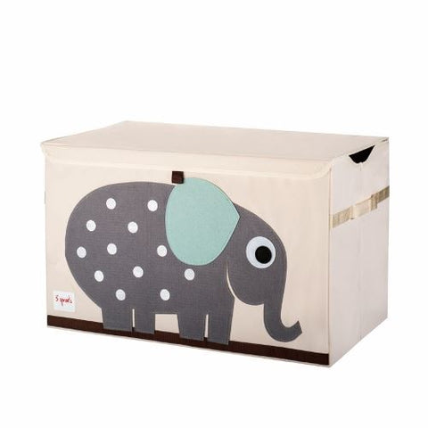 3 Sprouts Toy Chest Elephant Grey - educationaltoys.ie