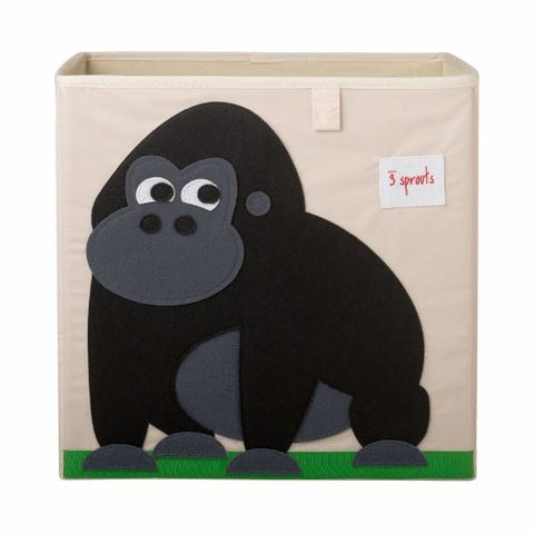 3 Sprouts Storage Box Gorilla Black - educationaltoys.ie