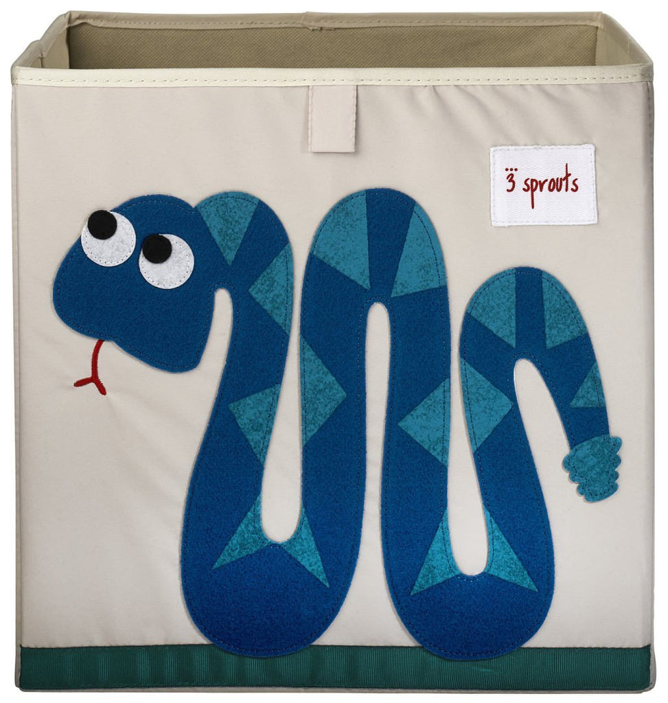 3 Sprouts Storage Box Snake Blue - educationaltoys.ie