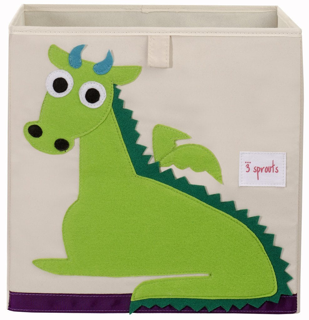 4 Sprouts Storage Box Dragon Green - educationaltoys.ie