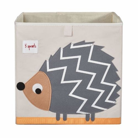 3 Sprouts Storage Box Hedgehog Grey - educationaltoys.ie