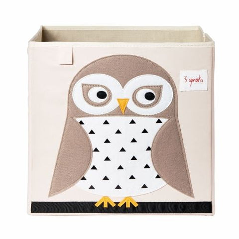 5 Sprouts Storage Box Owl White - educationaltoys.ie