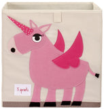 3 Sprouts Storage Box Unicorn Pink - educationaltoys.ie