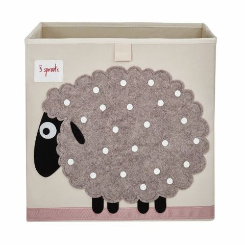 3 Sprouts Storage Box Sheep Beige - educationaltoys.ie