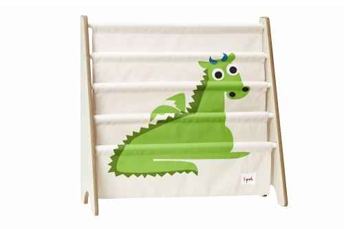 3 Sprouts Book Rack Dragon Green - educationaltoys.ie