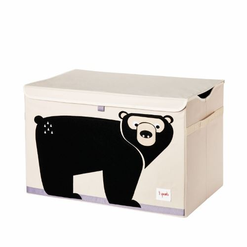 3 Sprouts Toy Chest Bear Black - educationaltoys.ie