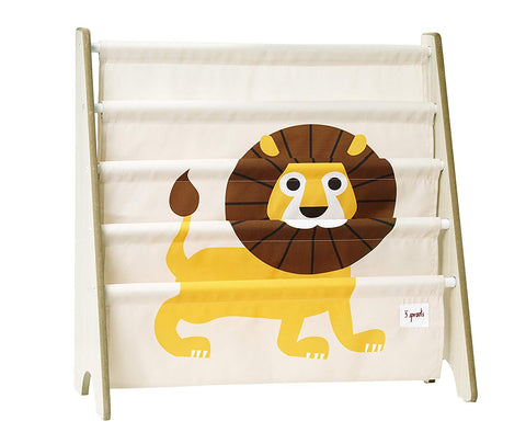 3 Sprouts Book Rack Lion Yellow - educationaltoys.ie