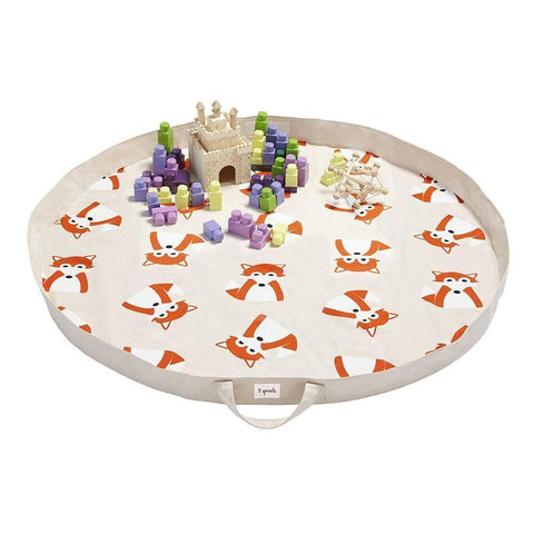 3 Sprouts Playmat Bag Fox Orange - educationaltoys.ie