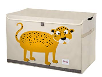 3 Sprouts Toy Chest Leopard Orange - educationaltoys.ie
