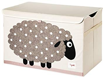 3 Sprouts Toy Chest Sheep Beige - educationaltoys.ie