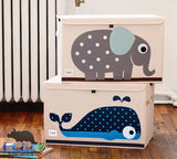 3 Sprouts Toy Chest Whale Blue - educationaltoys.ie