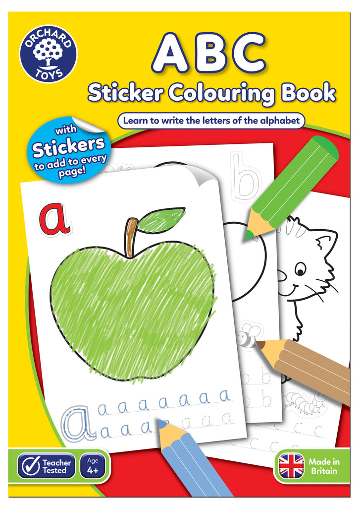 ABC Colouring Sticker Book - educationaltoys.ie