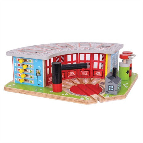 BJT192 5 Way Engine Shed - educationaltoys.ie