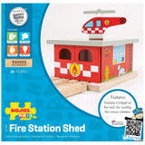 Fire Station Shed BJT262 - Bigjigs - Educationaltoys.ie