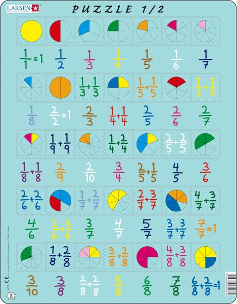 Larsen Puzzle 1/2 - Fractions puzzle - educationaltoys.ie