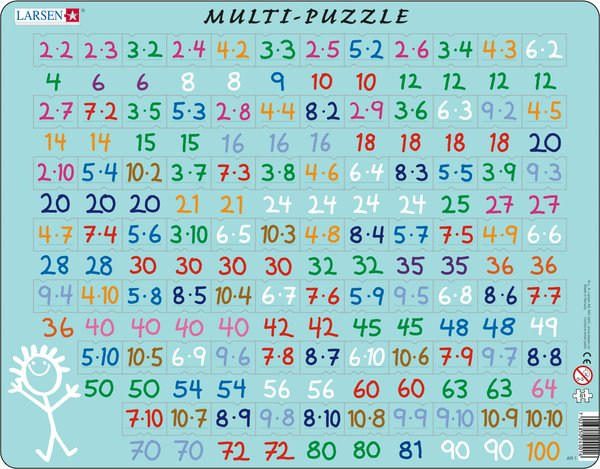 Larsen Multi Puzzle - first multiplication - educationaltoys.ie