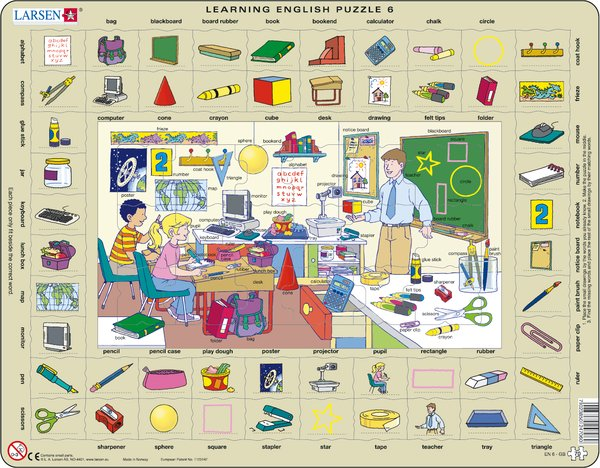 Larsen Learning English 6 Puzzle - 70 pces - educationaltoys.ie