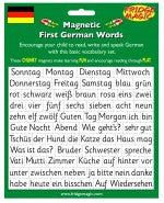 Magnetic First German Words - educationaltoys.ie