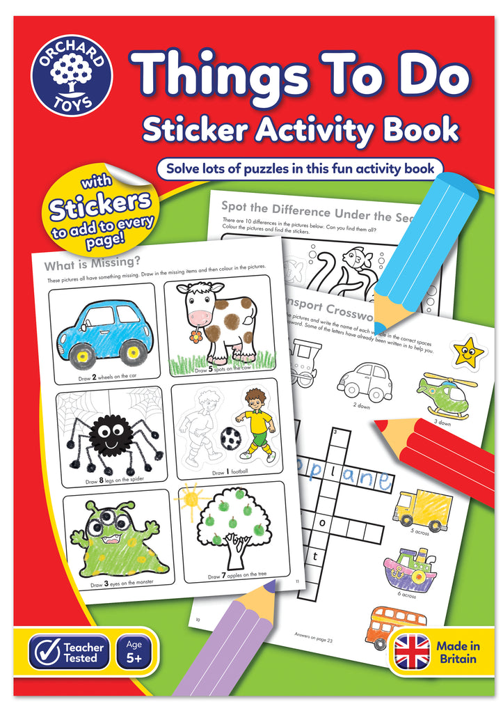 Orchard Toys Things To Do Sticker Activity Book - educationaltoys.ie