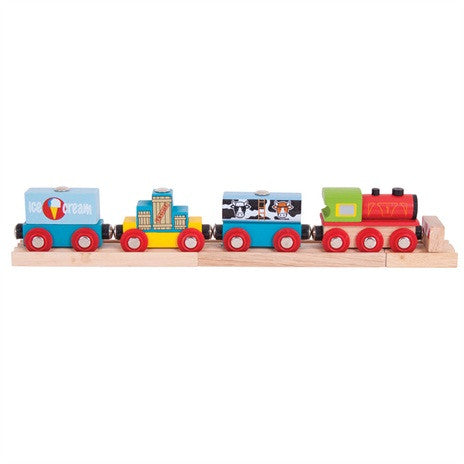 Goods Train BJT181 - wooden trains - educationaltoys.ie