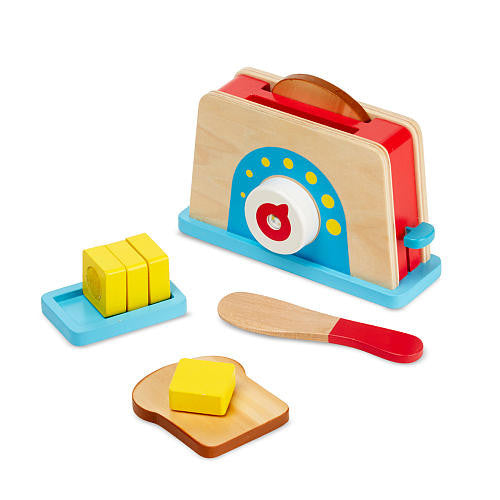 Melissa & Doug Bread & Butter Toaster Set - educationaltoys.ie