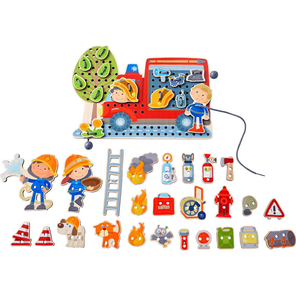 HABA Threading Game In Action 305287 - educationaltoys.ie