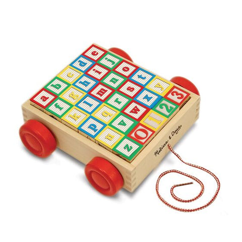 ABC-123 Wooden Block Cart - educationaltoys.ie