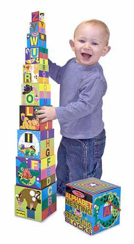 Alphabet Nesting & Stacking Block - educationaltoys.ie